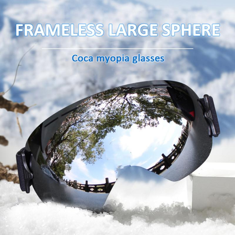 Anti-Fog Adult Ski Goggles Glasses Double Layer TPU Snowboard Protection Eyewear UV400 Protection Windproof Snow Skiing Glasses