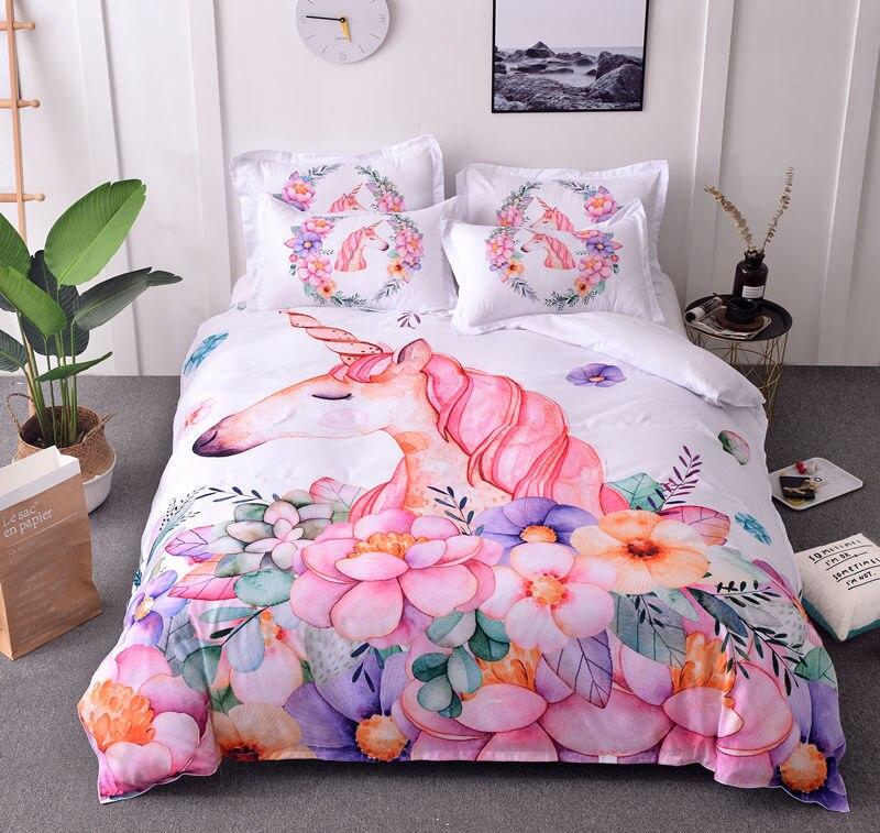 Unicorn Comforter Bedding Sets Queen King Full Home Sweet Bed Comforter Duvet Cover 3pcs