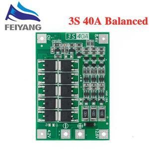 Image 3 - 3S 40A ליתיום ליתיום סוללה מטען Lipo תא מודול PCB BMS הגנת לוח עבור תרגיל מנוע 12.6V עם איזון