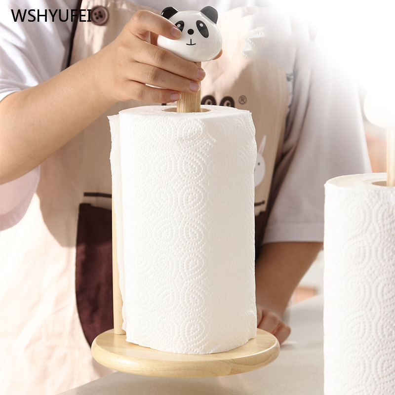 Image 2 - Cartoon paper towel rack kitchen table bathroom desktop creative cute vertical paper towel oil absorbing paper special framePaper Holders   -