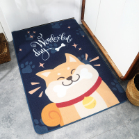Bathroom Mat Floor Mat Skid Resistant Nylon Dog Pattern Dining Room Bedroom Sofa Decoration