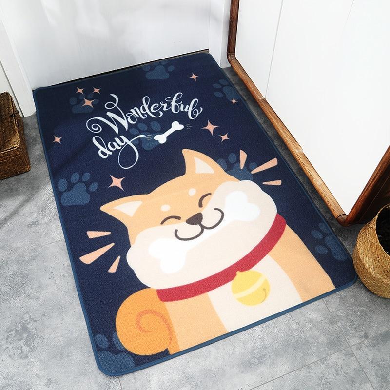 Tapis de salle de bain tapis de sol antidérapant en Nylon motif de chien salle à manger chambre canapé décoration