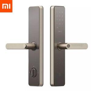 Xiaomi Mijia Smart Door Lock Smart lock Fingerprint Password NFC Bluetooth Unlock Detect Alarm Work Mi Home App Control(China)