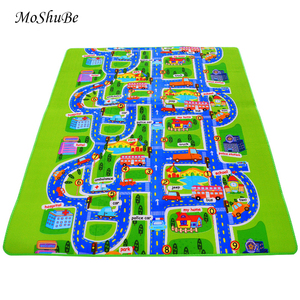Image 1 - 0.5 cm Thick Town City Traffic Baby Crawling mat EVA Foam Climbing Pad  Green Road Childrens Play Mat Carpet for Baby