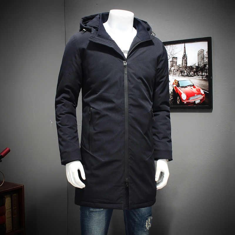 플러스 사이즈 8xl 7xl 6xl 5xl 새로운 의류 재킷 비즈니스 긴 두꺼운 겨울 코트 남자 솔리드 파카 패션 오버 코트 겉옷