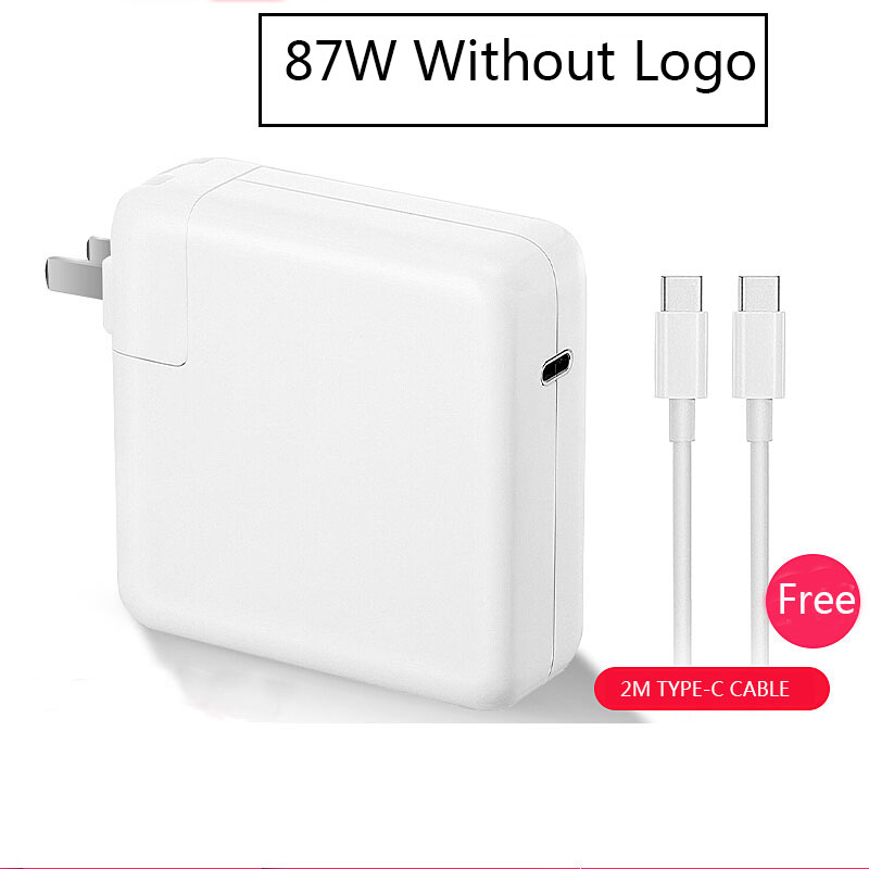 87W USB Type c power supply with 2M usb c charging cable for font b macbook