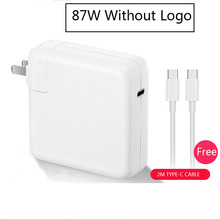 87W USB Type c power supply with 2M usb-c charging cable for macbook forLatest Macbook pro 15inch A1706 A1707 A1708 A1719