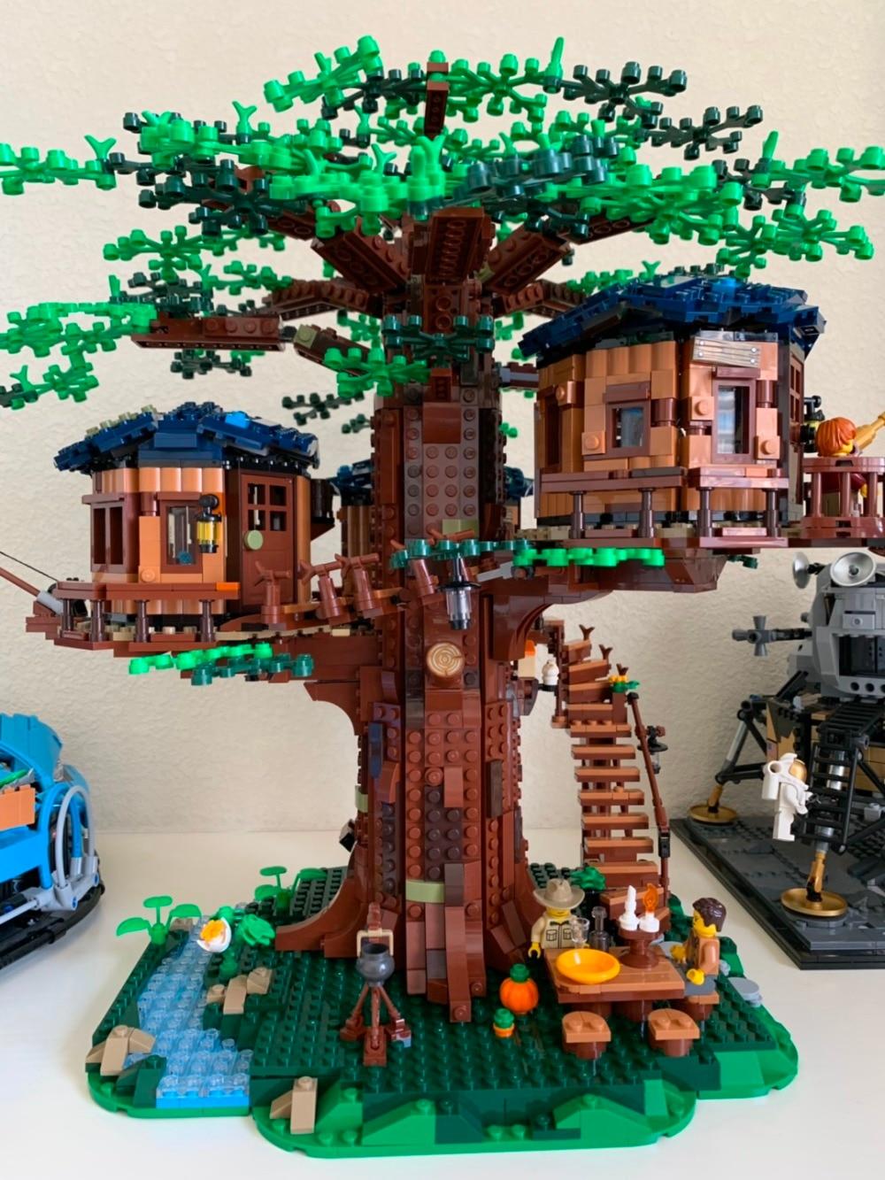 In stock SY6007 New 2019 Ideas Tree House Model Building Blocks Bricks Kids Toys Christmas Gifts 21318 1