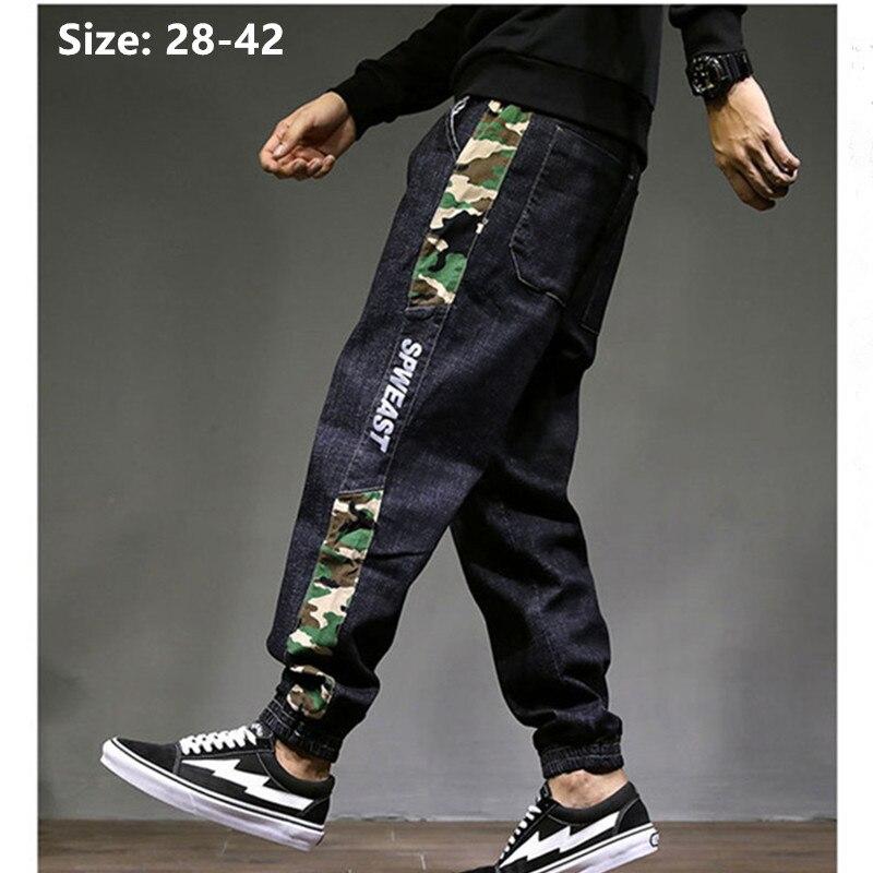 Black Jeans Man Brand 2019 Plus Big Size Harem Hip Hop Ankle Length Denim Jogger Jean Men Taglia Grande Trousers Hombres Jens