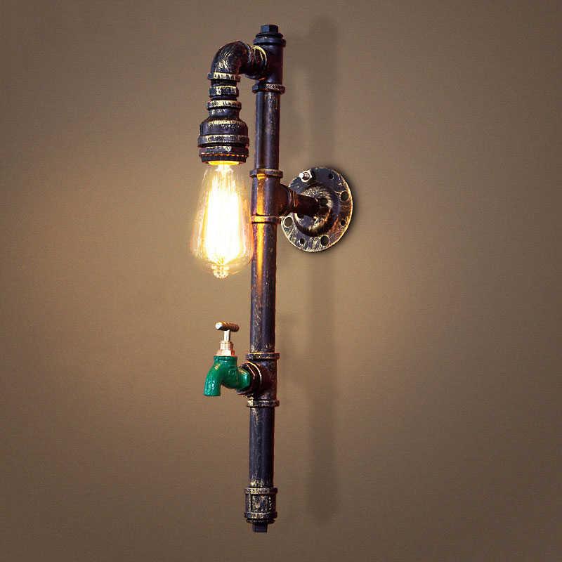 Vintage industrie dampf punk lampe loft wand lampe restaurant bar club veranda korridor cafe licht leuchte wasser rohr edison E27 bh
