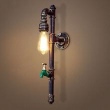 Vintage industria Steampunk lámpara de pared para apartamento restaurante bar club porche pasillo café sconce tubo de agua edison E27 bra