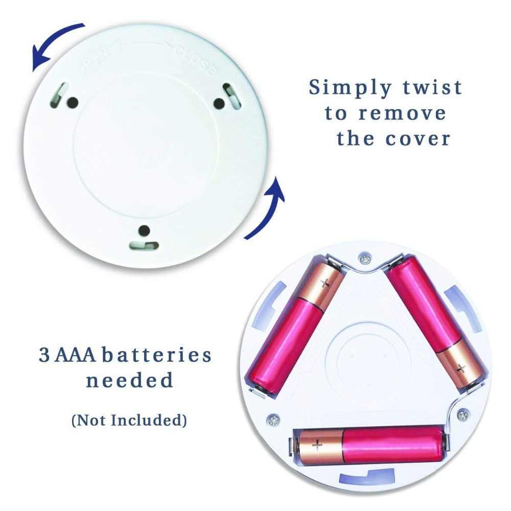 6LED, Sensor de cuenta, luz nocturna PIR, bombillas LED de movimiento infrarrojo, alimentación automática de la batería del armario de encendido y apagado para lámpara de pared del hogar, escalera del gabinete