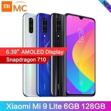 """En stock Version mondiale Xiao mi mi 9 Lite snapdragon 710 Octa Core 6GB 128G téléphone portable 6.39 """"AMOLED 48MP caméra 4030mAh téléphone portable"""