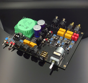 Image 1 - 2019 NEW E600 Fully Balanced Input Fully Balanced Output Headphone Amplifier Board DIY kit with Motor potentiometer