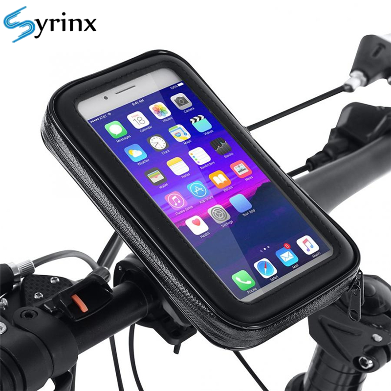Bicycle Motorcycle Phone Holder Waterproof Bike Phone Case Bag For IPhone Xs Xr X 8 7 Samsung Mobile Stand Support Scooter Cover