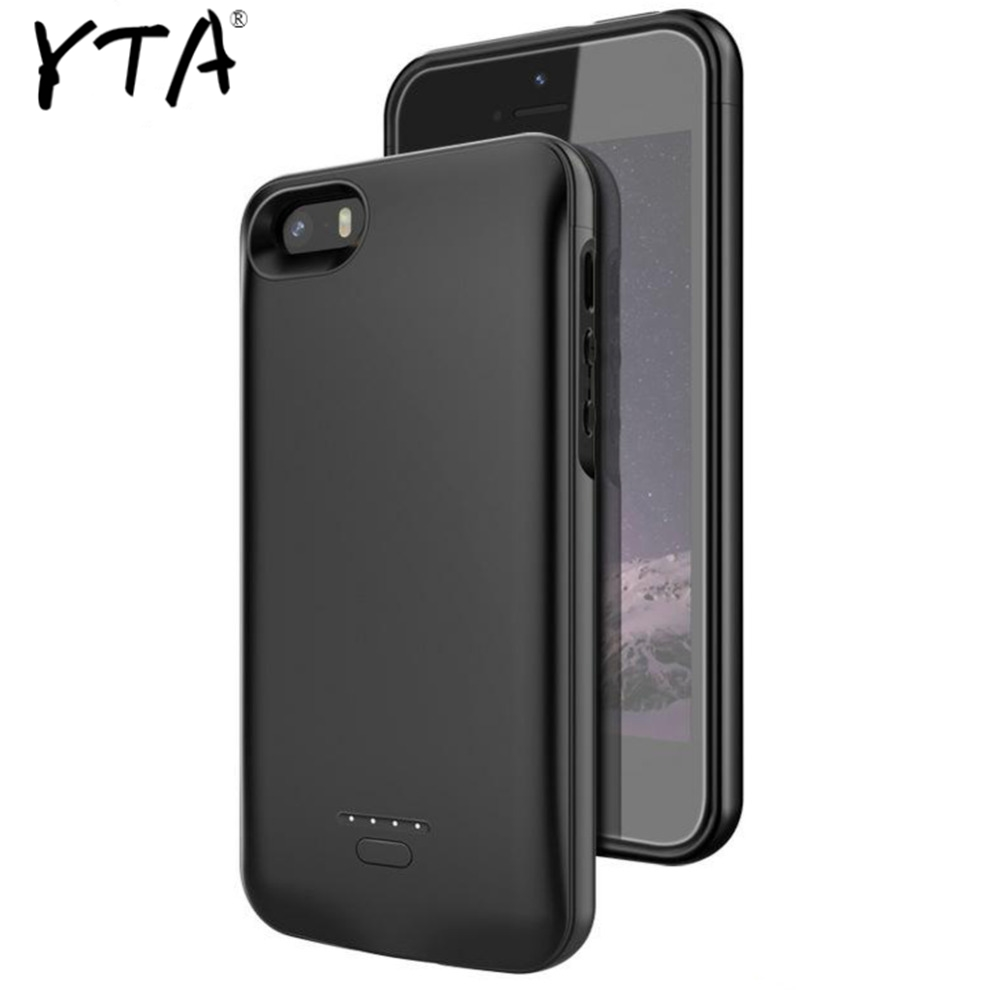 For <font><b>iPhone</b></font> 5 <font><b>Battery</b></font> <font><b>Case</b></font> 4000 Mah Charger <font><b>Case</b></font> Smart Phone Cover Power Bank For <font><b>Iphone</b></font> 5 <font><b>5s</b></font> SE <font><b>Battery</b></font> <font><b>Case</b></font> image