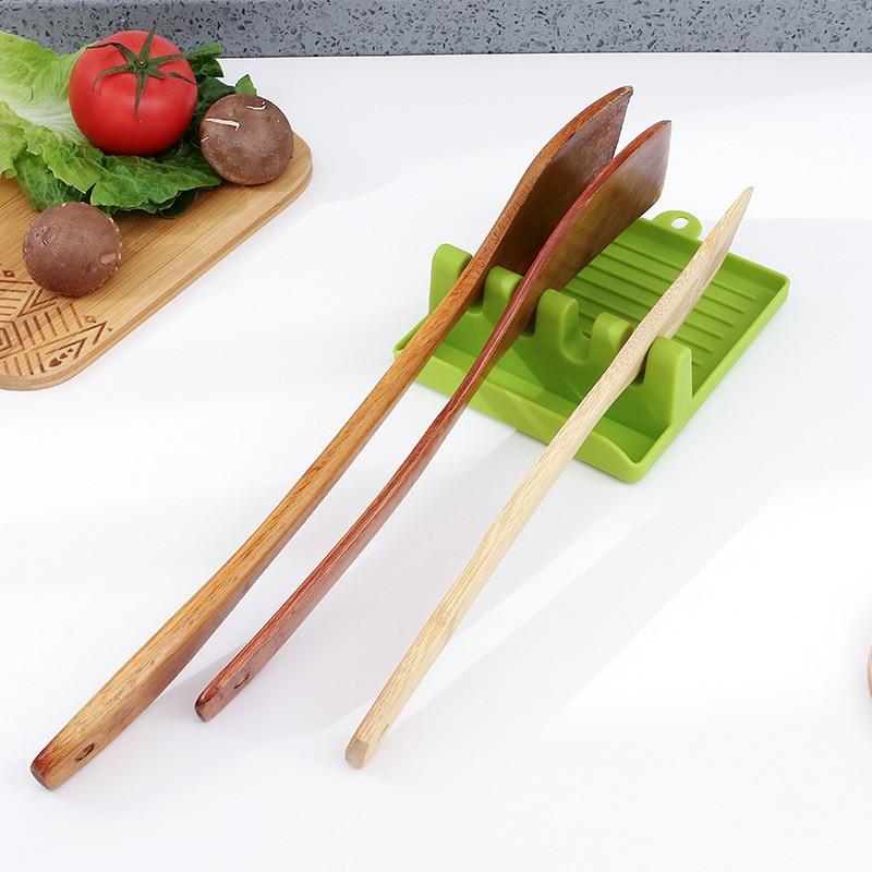 Kitchen Spoon Rest Utensil Rest Pot Lid Holder Ladle Pot Rack Storage Rack Turner Spatula Holder Heat Resistant Shelves Cooking