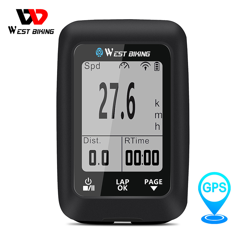 <font><b>GPS</b></font> Fahrrad Computer Wireless <font><b>navigation</b></font> Tacho IPX7 Wasserdichte Road MTB Fahrrad Bluetooth ANT + Hintergrundbeleuchtung Radfahren Computer image