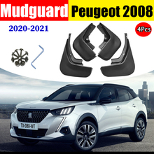 Car Accessories Mud Flaps FOR Paugeot 2008 2019 2021 Mudguards Fender Mudflaps Guard Splash Guards Front Rear 4pcs 1 ste