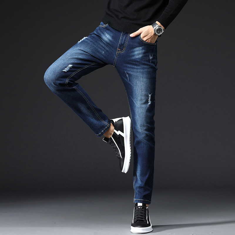 2020 New Jeans For Men Slim Fit Pants Classic Jeans Male Denim Jeans Designer Trousers Casual Skinny Straight Elasticity Pants