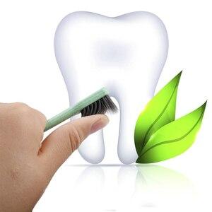 Image 3 - Зубная щетка с мягкой щетиной, антибактериальная зубная щетка из пшеничной соломы для ухода за полостью рта, 10 шт.