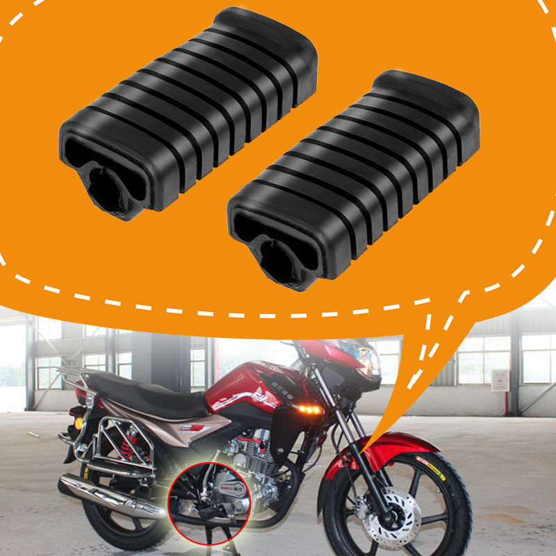 2 Pcs Motorbike Foot Peg Rubber Nonslip Footrest Pedal Foot Peg Cover Set For Honda WY125 Motorcycle Accessories 2019 New