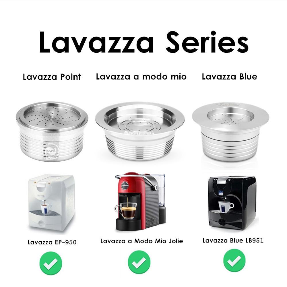 Stainless Steel Coffee Filters Refillable Coffee Capsule Pod For Lavazza Espresso Point For Lavazza Blue For Lavazza A Modo Mio