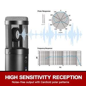 Image 2 - Micro à condensateur USB GGMM F1 pour ordinateurs portables Mac enregistrement en Studio cardioïde en Streaming voix vocale sur karaoké Youtube etc.