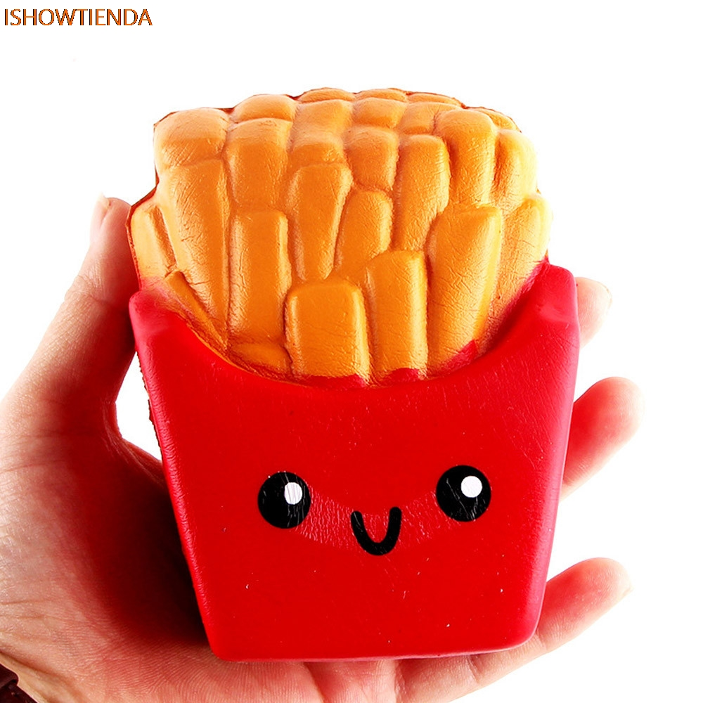 12CM PU Cute French Fries Cream Scented Squeeze Toy 6 Second Slow Rising Cute Stress Relief Squishy Toy Drop Shipping