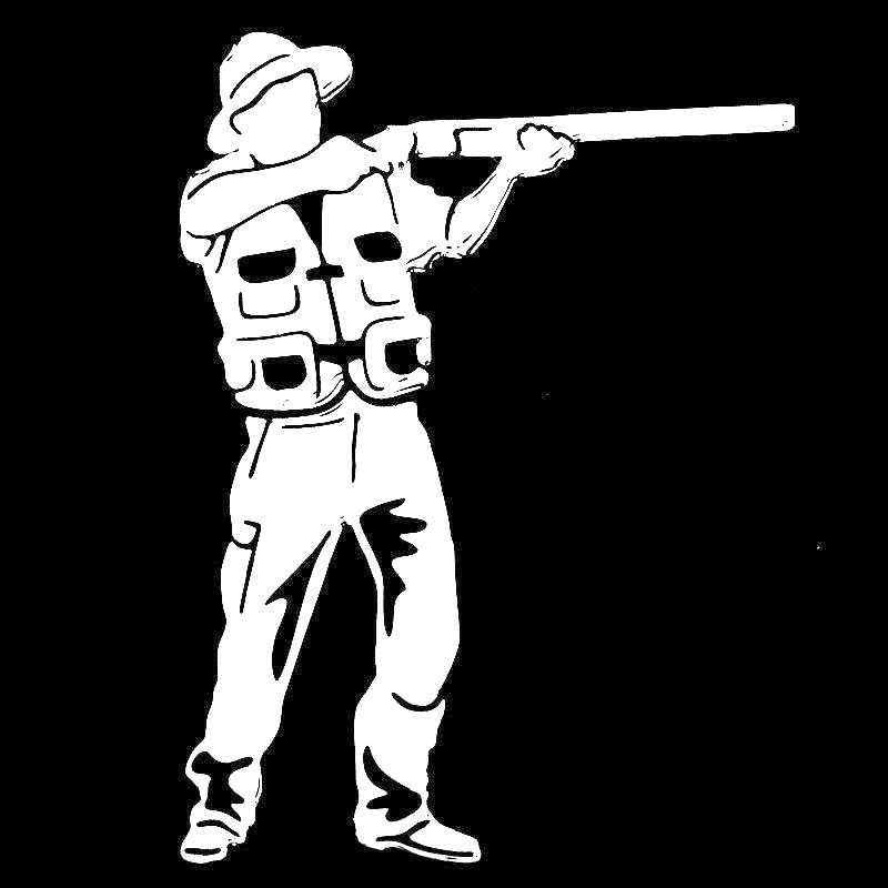 الفولكريز ملصق سيارة الموضة في الهواء الطلق الصيد صياد اكسسوارات عاكسة واقية من الشمس ملصق حائط من الفينيل ، 15 سنتيمتر * 11 سنتيمتر