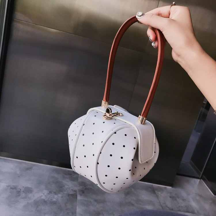 Round Ball Handbag Ladies Small Luxury Brand Designer Leather Circular Women Hand Bags Single Shoulder Bag Lady