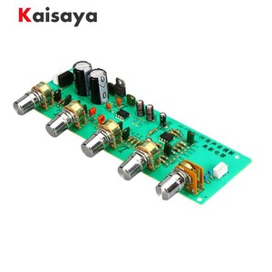 2.0 HIFI AN4558 Audio Preamplifier Bass Midrange Treble Balance adjustable Audio Preamp Finished Board With Tone Control B3-003(China)