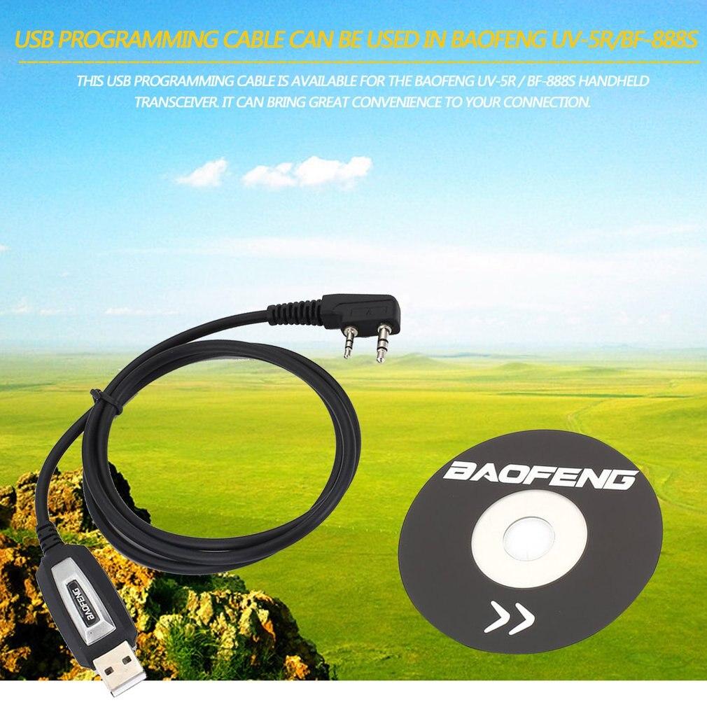 Câble de programmation USB/cordon CD pilote pour UV-5R Baofeng/BF-888S émetteur-récepteur portable