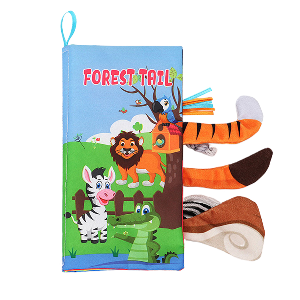 Baby Cloth Books Tear Resistant Early Learning Educational Toy Soft First Year Sensory Non Toxic Rustling Sound Cute Home Infant