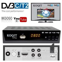 1080P DVB-T2 Digitale Tv Box Prefix DVBT2 Dual Tuner Dvb T2 Russische DVB-C Kabel Tv Ontvanger Satelliet Decoder Wifi iptv Youtube(China)