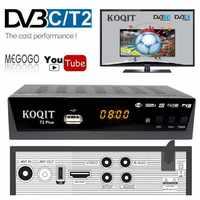 1080P DVB-T2 Digital TV Box Prefix DVBT2 Dual Tuner DVB T2 Russian DVB-C Cable TV Receiver Satellite Decoder Wifi IPTV Youtube