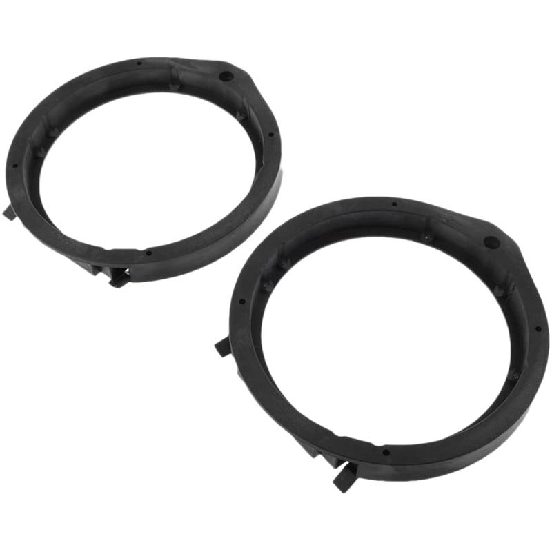 2Pcs Black 6.5 inch Car Speaker Mounting Spacer Adaptor Rings for Honda Civic Accord Crv Fit City