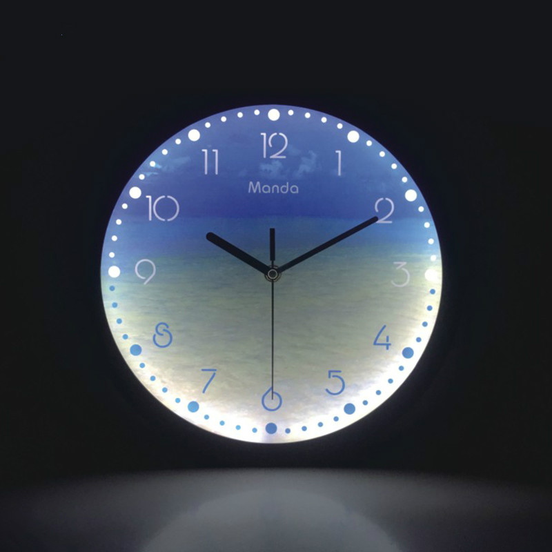 Luminous Wall Clock 12 Inch LED Glowing Decorative Clocks Silent Night Lights Modern Design Living Room Bedroom Nordic Decor title=
