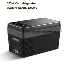 25l ac dc12v24v carro geladeira portátil acampamento piquenique ao ar livre compressor congelador profundo mini refrigerador de gelo caixa viagem para casa