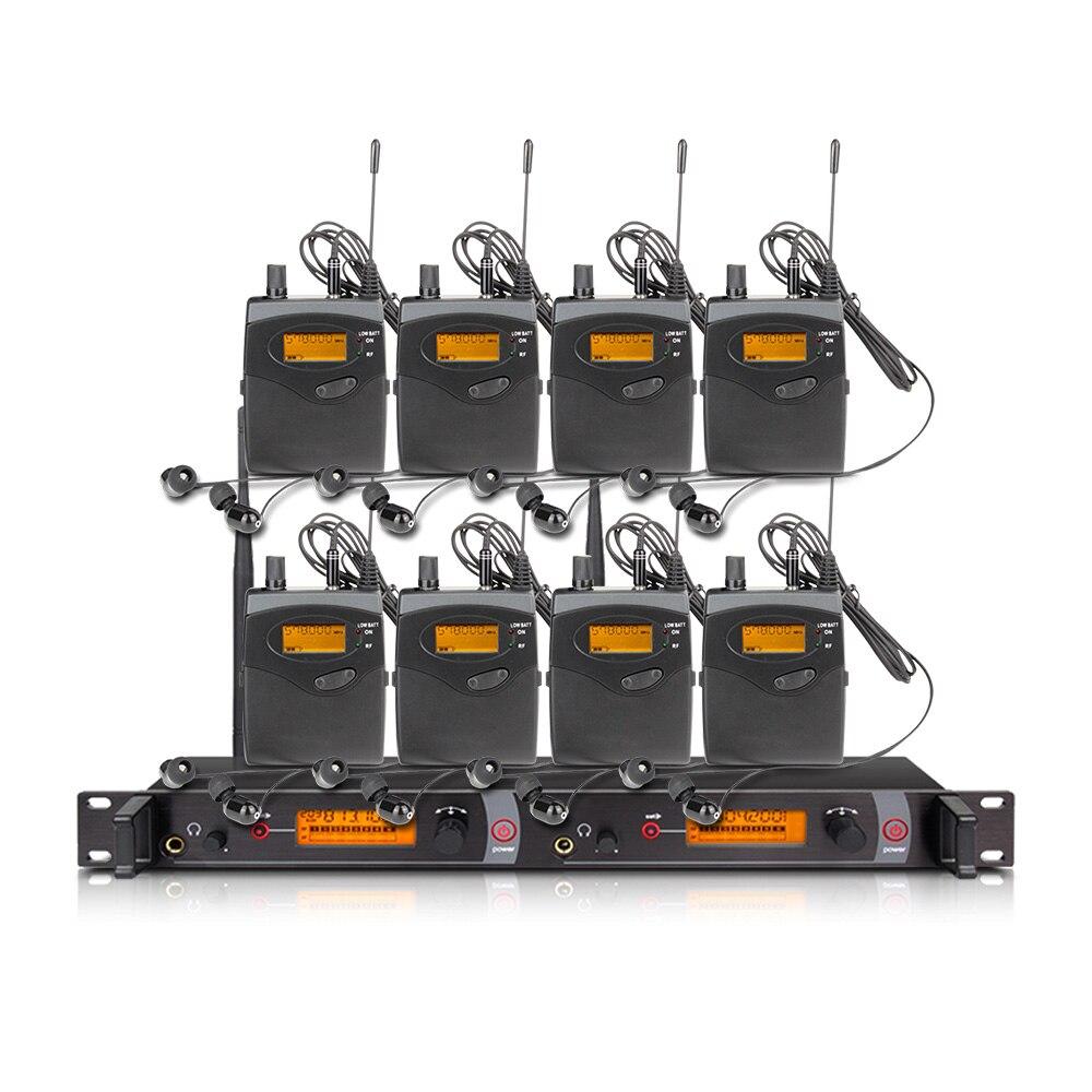 Orban występ na scenie i dźwięk transmisji EM2050 profesjonalny bezprzewodowy w ucho monitor systemu 8 nadajniki przywrócić prawdziwy dźwięk
