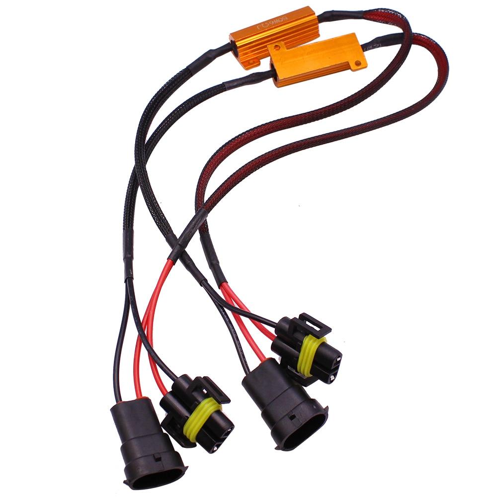 YUNPICAR-Kit de harnais de fils H11 H8 H9 881 | 50W 6Ohm, résistance de charge, fixe Hyper clignotant, Canbus, annuleur d'erreur d'avertissement
