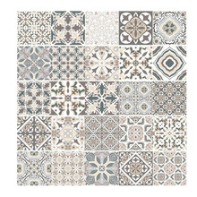 Arabic Retro Tile Stickers For Kitchen Bathroom PVC Self Adh