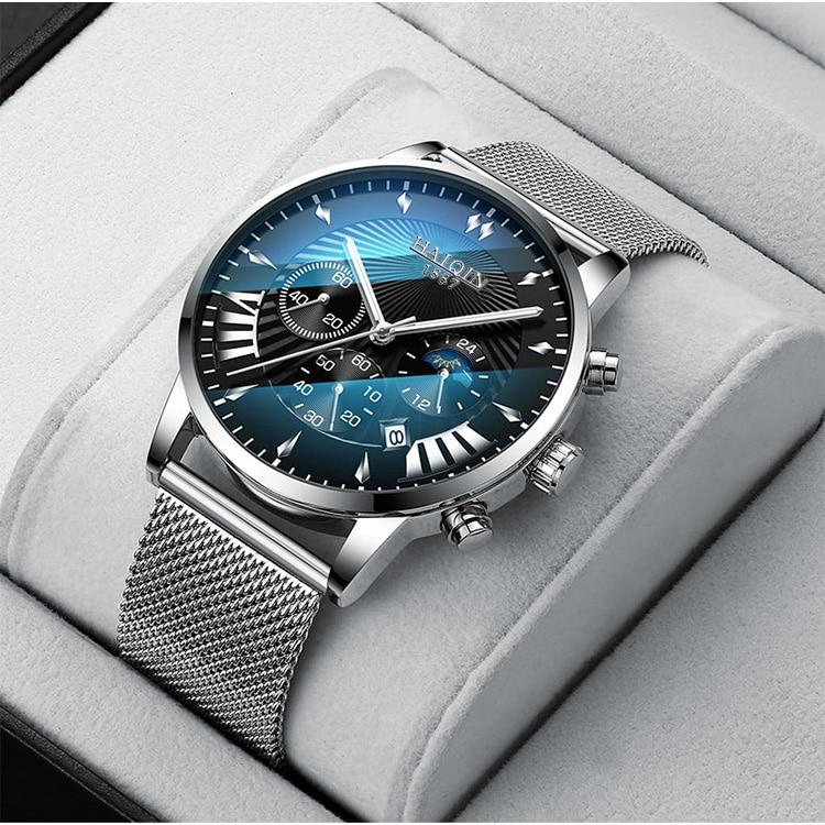 H5ef397cf46dd45eba66b1bdbc0e70cec6 HAIQIN 2019 Fashion Mechanical mens watches top brand luxury sport wristwatch men waterproof Quartz mens clock Relogio Masculino
