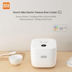 Image 4 - Xiaomi Mijia ไฟฟ้าหม้อหุงข้าว 5L สมาร์ทล้อแม็กเหล็กหล่อความร้อนหม้อหุงข้าว Multicooker APP Control Home 220V 1100W