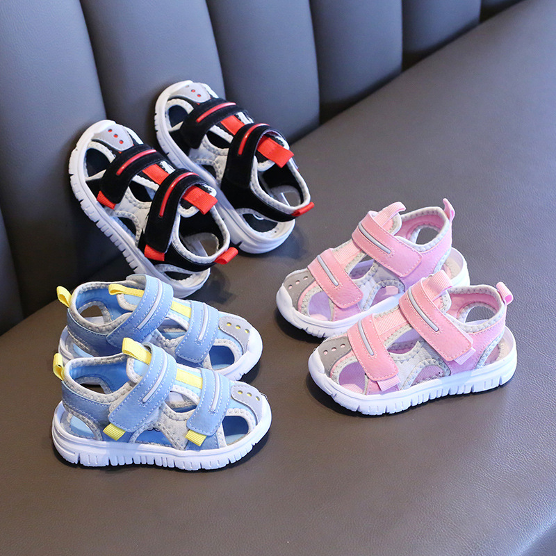 Summer baby sandals for girls boys soft bottom cloth children shoes fashion little kids beach sandals toddler shoes 6
