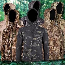 Mannen Militaire Fleece Jacket Army Tactische Kleding Camouflage Windjacks Outdoor Wandelen Jacht Waterdicht Warm Merk Jassen