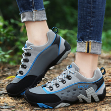 2017 summer outdoor anti slip hiking shoes men women breathable mesh trekking shoes sports sneakers walking aqua shoe lightweigt 2020 Summer Unisex Hiking Shoes Men Breathable Outdoor Trekking Shoes Women Sneakers Mesh Climbing Mountain Shoes Outdoor Shoes