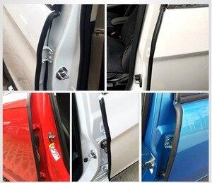 Image 4 - 2x85cm אוטומטי גומי חותם רצועת רעש בידוד חותם Tirm רכב קדמי אחורי דלת קצה Weatherstrip Dustproof B עמוד אביזרים