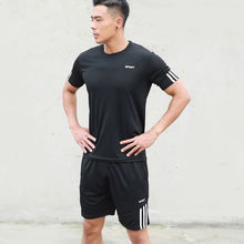 New Sports T-Shirts And Shorts Men's  Casual Running Suits Short Sleeve Two Piece A Set Summer Sportswear For Soccer summer short sleeve shorts running casual sportswear set women s fashion 2020 summer new short fashion pajamas two piece set