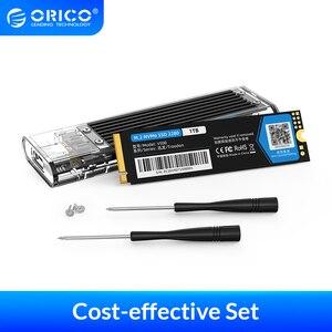ORICO Portable SSD 128GB 256GB 512GB 1TB M.2 NVME SSD Internal SSD With Transparent SSD Case M Key External USB3.1 Gen2 10Gbps